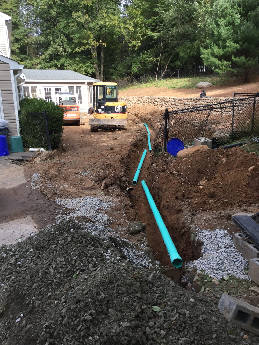 Phase Two: Drainage Installation