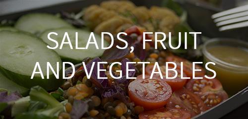Saláty, ovoce a zelenina