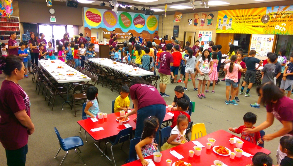 VBS 2016 Lunch about ready