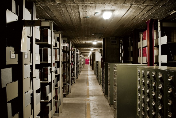 The underground bunker of the archives. (Courtesy of Vatican Secret Archives and VdH Books via CNS)