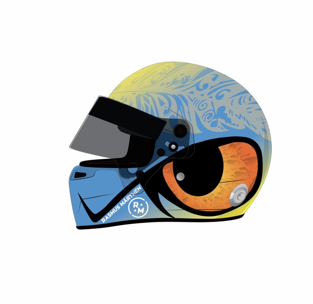 This is what the helmet design looks like. Designed by Hannes Löwenberg, a first year student at PlaygroundSquad.