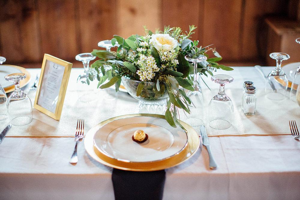 wedding greenery centerpiece