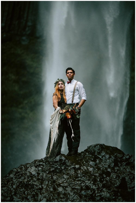 dark bouquet by waterfall