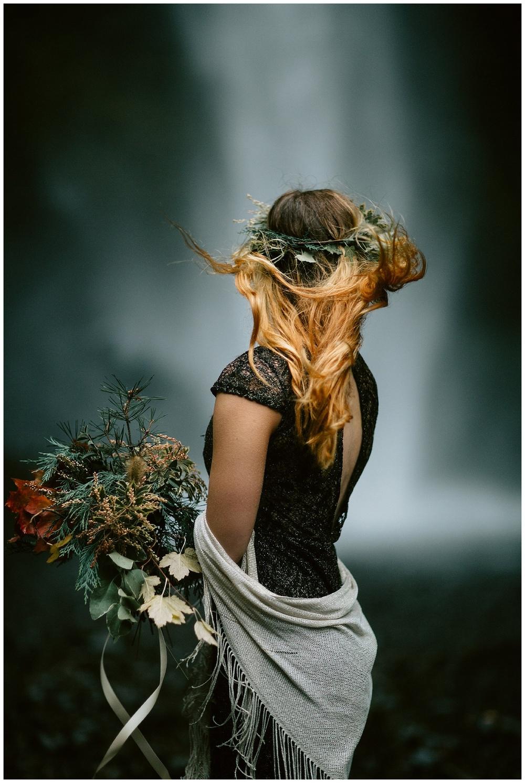 cascading waterfall bouquet
