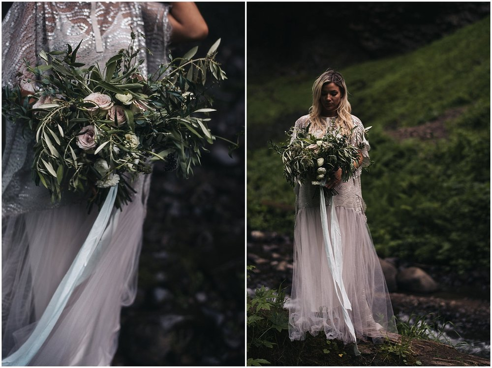 portland florist romantic wedding bouquet