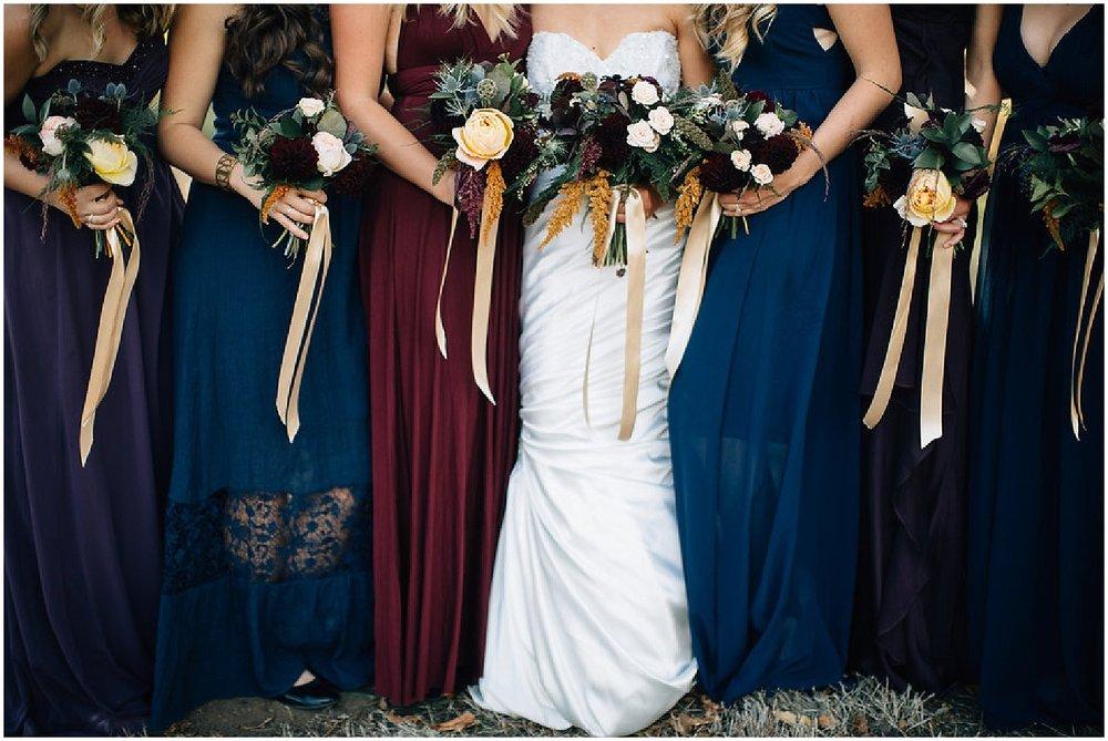 cascading wedding flowers