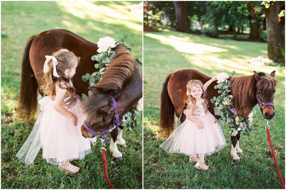 mini horse garland