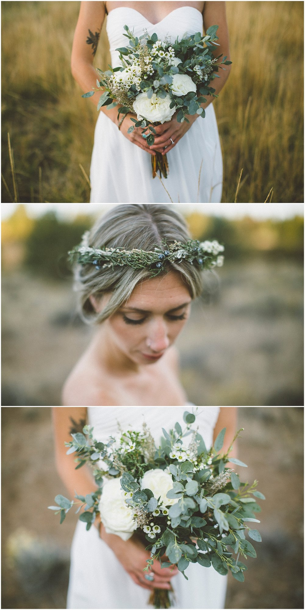 Good Seed Floral Design flower crown bouquet