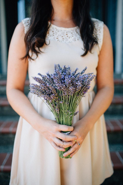 good seed floral design lavender bridesmaid's bouquet