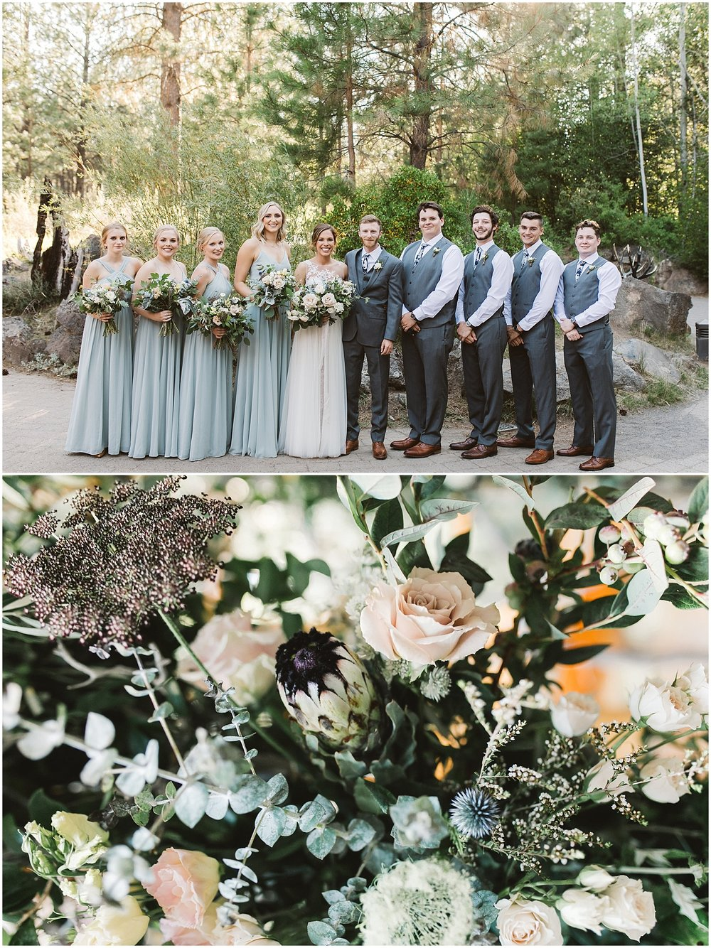 Wedding flowers and boutonnieres