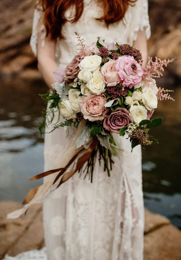 Photo: Fiona Vail Bouquet: Poppy and Willow Bloom