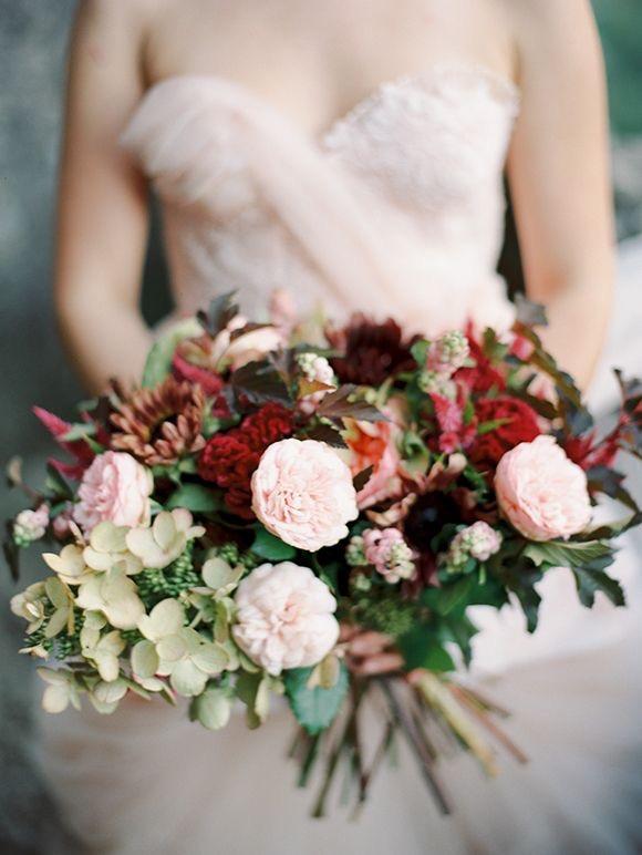 bridal bouquet of garden flowers