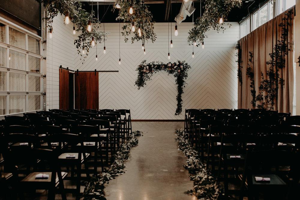suspended wedding arbor