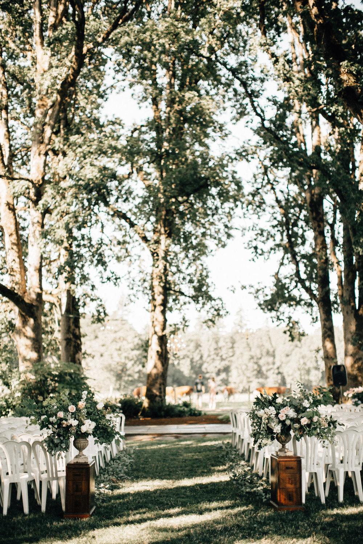 wedding aisle arrangments