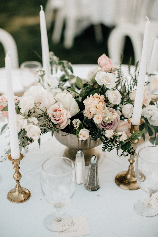 wedding flowers in a vase