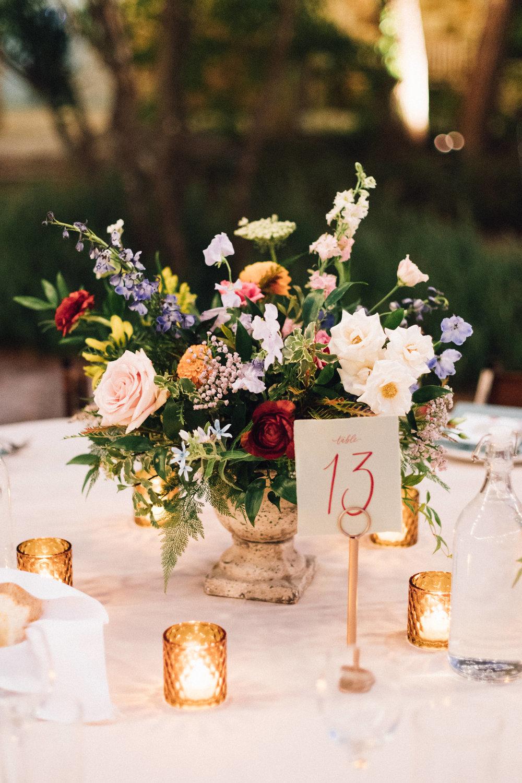 wildflower table centerpiece
