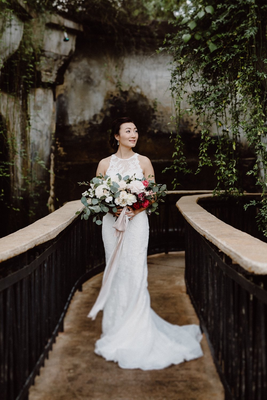 eucalyptus in a bridal bouquet