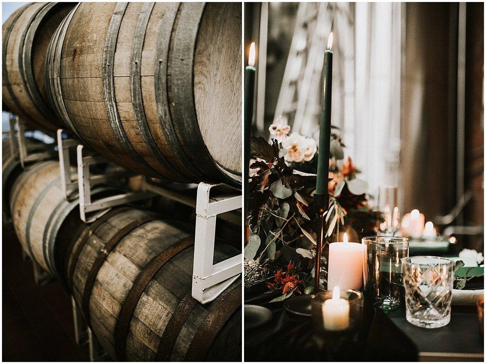 wine barrels and flowers