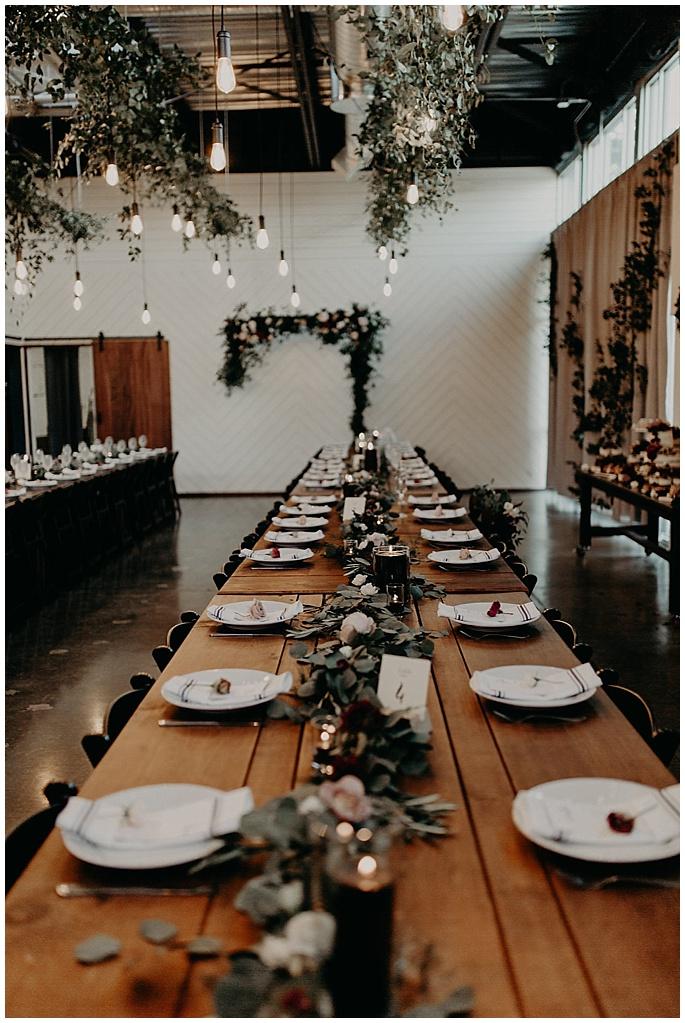 wedding reception florals