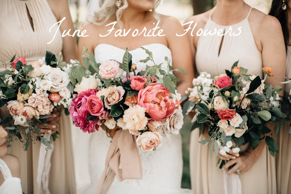 Pink and beige bouquets