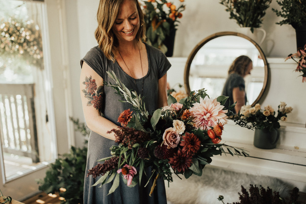 teaching a portland florist