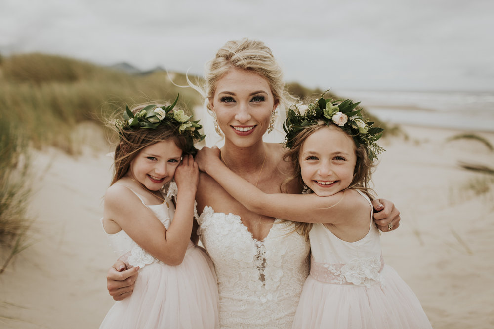 beautiful flower girls with flower crown