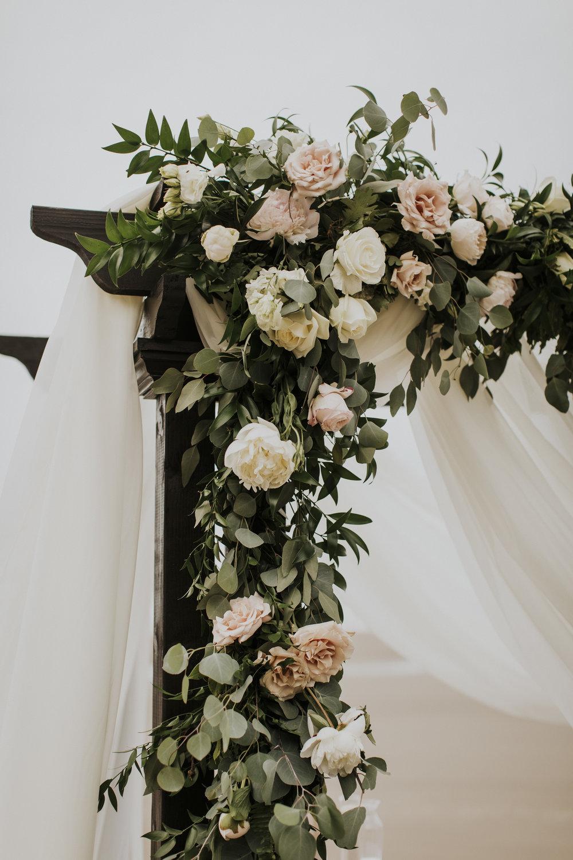wedding arbor floral garland