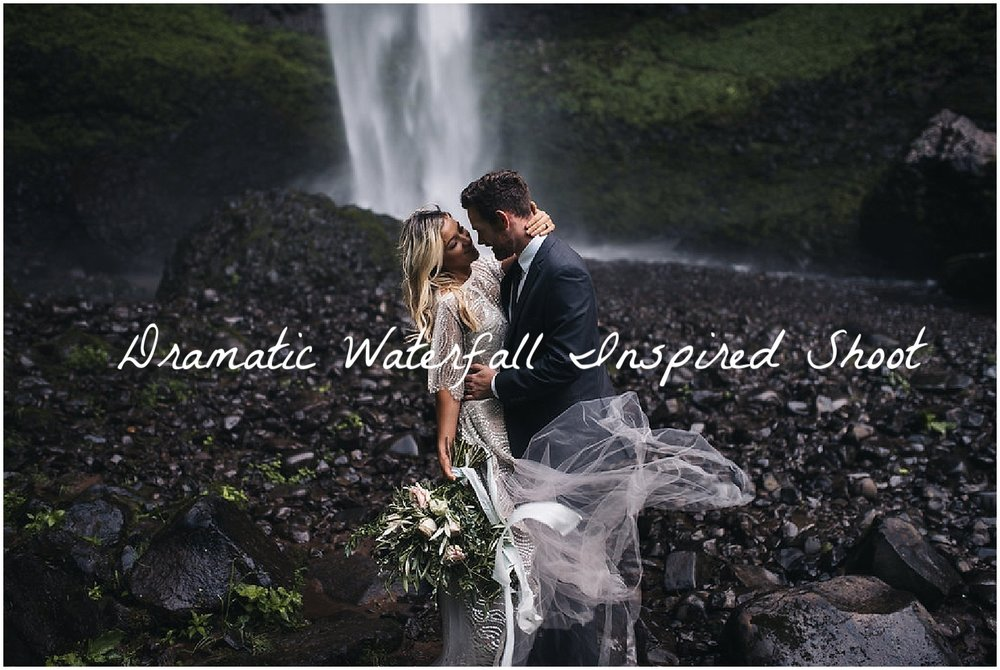 Good Seed Floral waterfall cascading bouquet