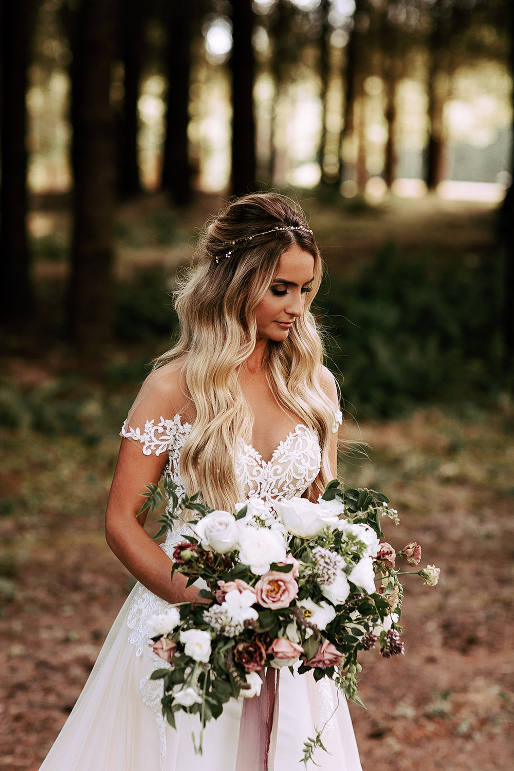 romantic bridal bouquet wedding
