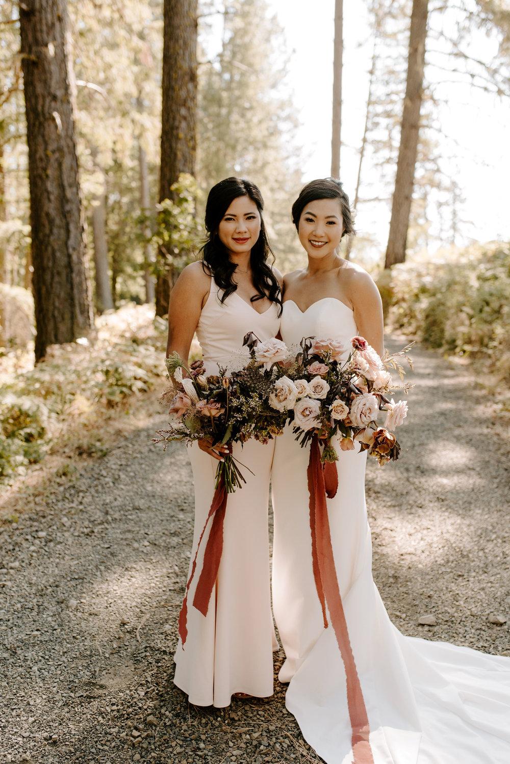 elegant boho wedding bridesmaid