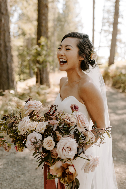 elegant boho wedding bride