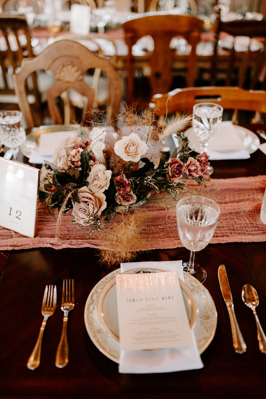 elegant boho wedding centerpiece