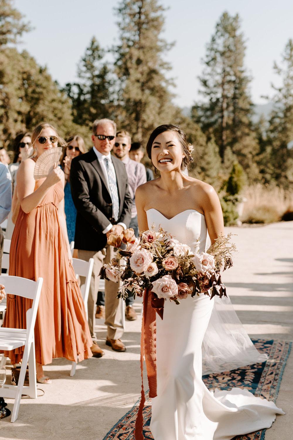 elegant boho wedding ceremony