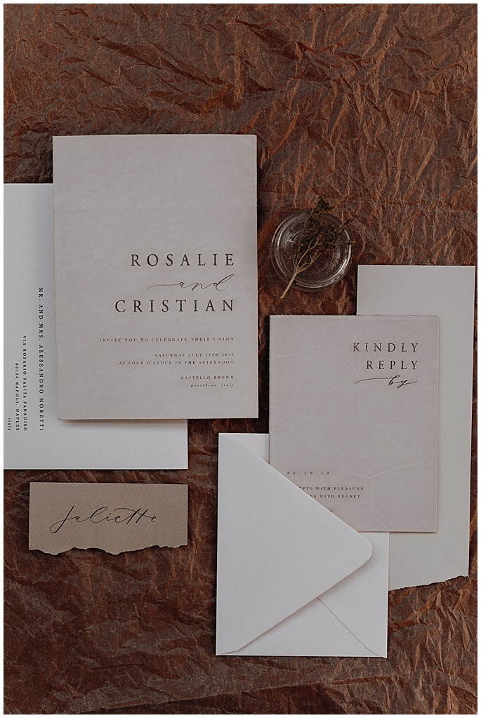 wedding invitation suite modern