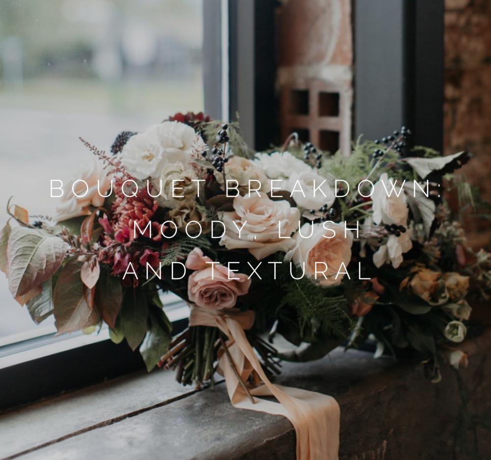 romantic bridal bouquet breakdown