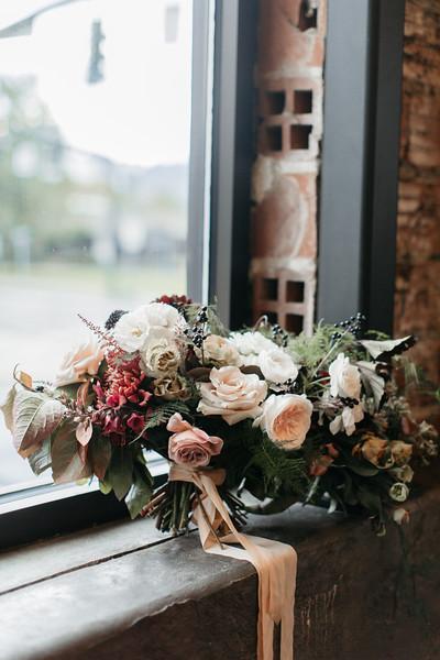 romantic bridal bouquet Portland florist