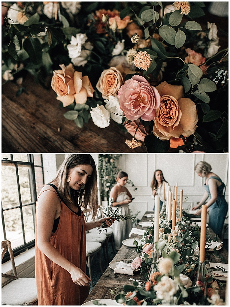 the floral gathering - a wedding dinner for florists