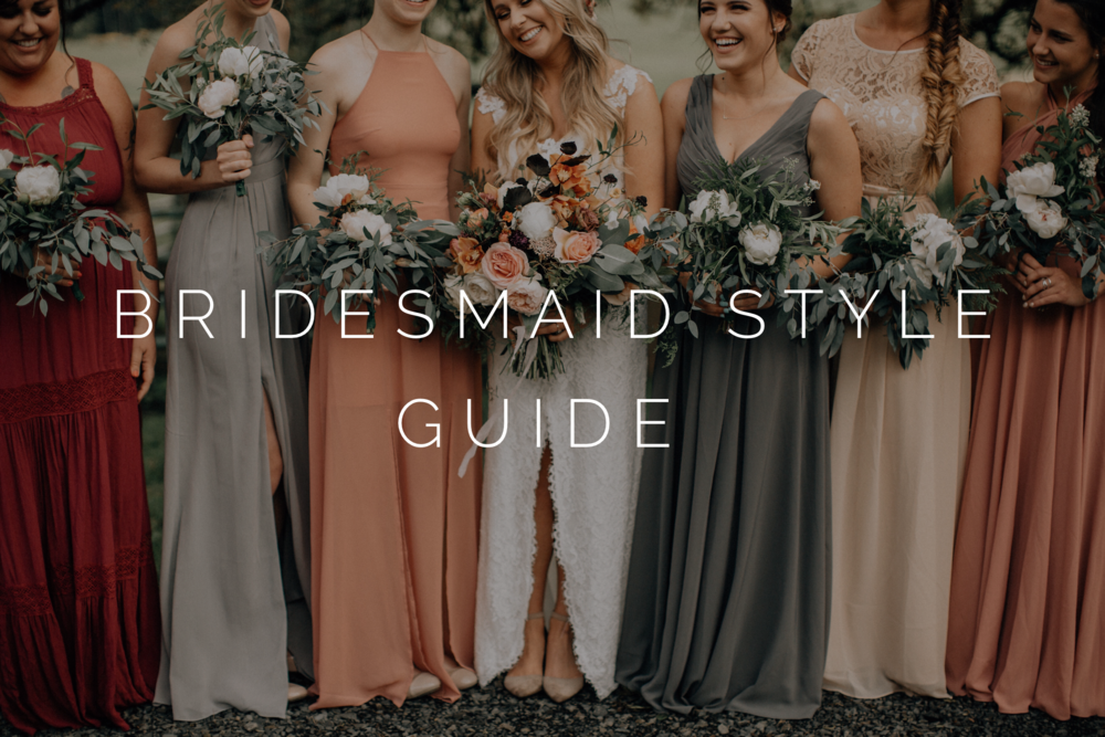 bridesmaid style and wedding bouquets