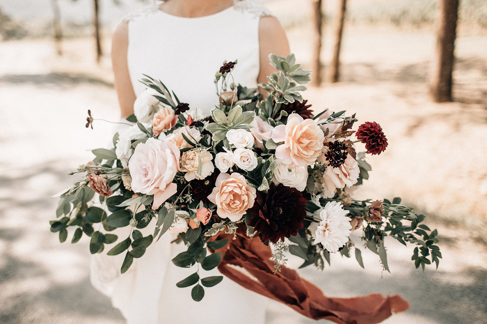 romantic bridal bouquet portland florist