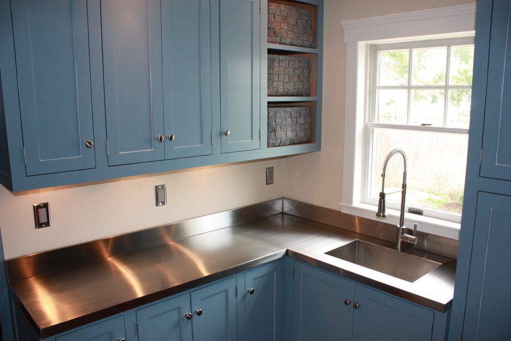 We Designed And Installed The One Piece, No Seam, Integral Sink Stainless  Steel Countertop Unit And Finished It Off With A Detachable Rinse Hose  Faucet ...