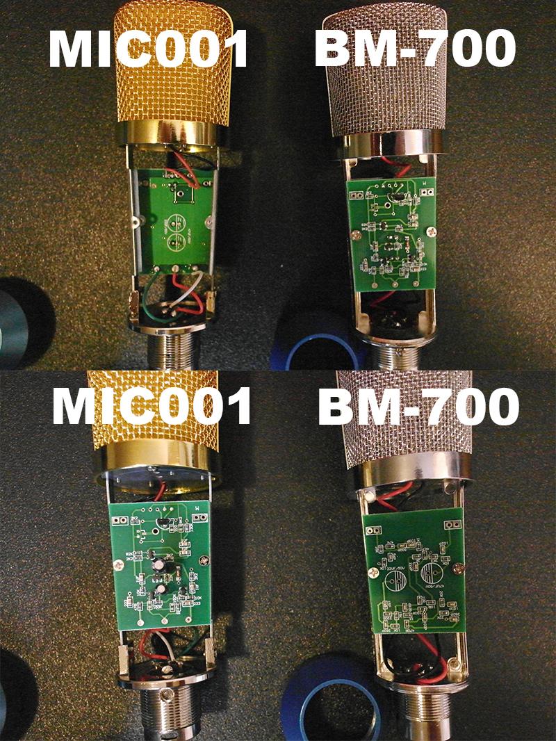 Comparison of inner working of Yuker Mic 001 & the BM-700