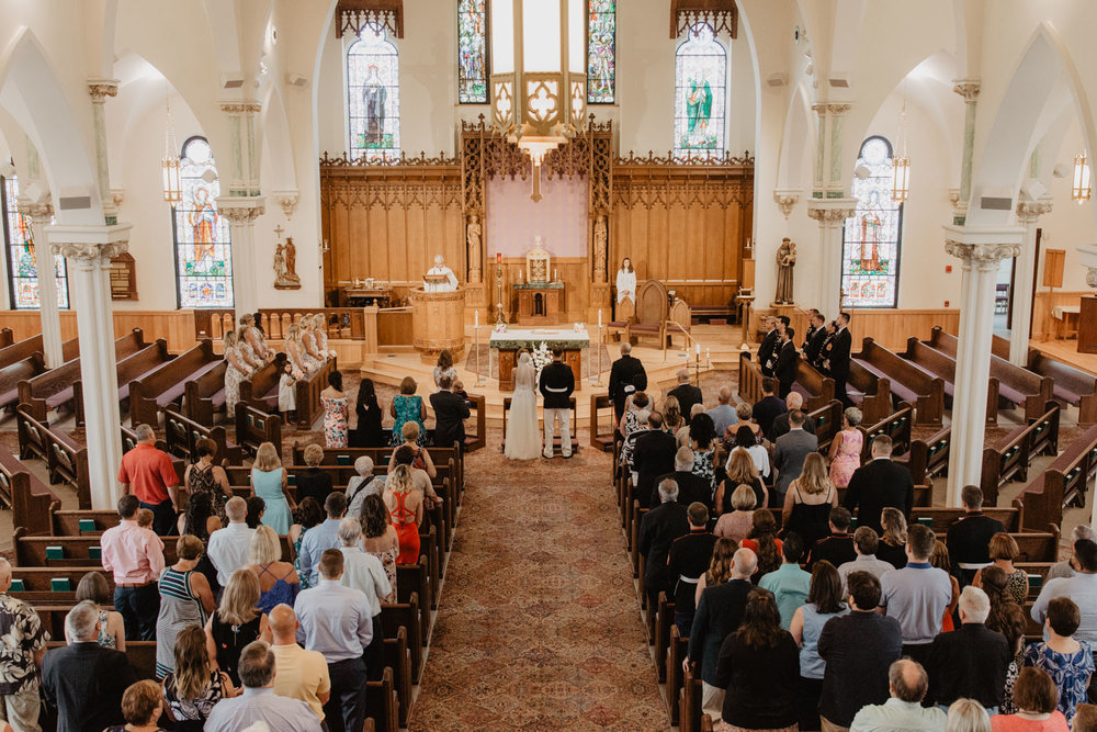 Stoneham MA, Saint Patricks church wedding ceremony