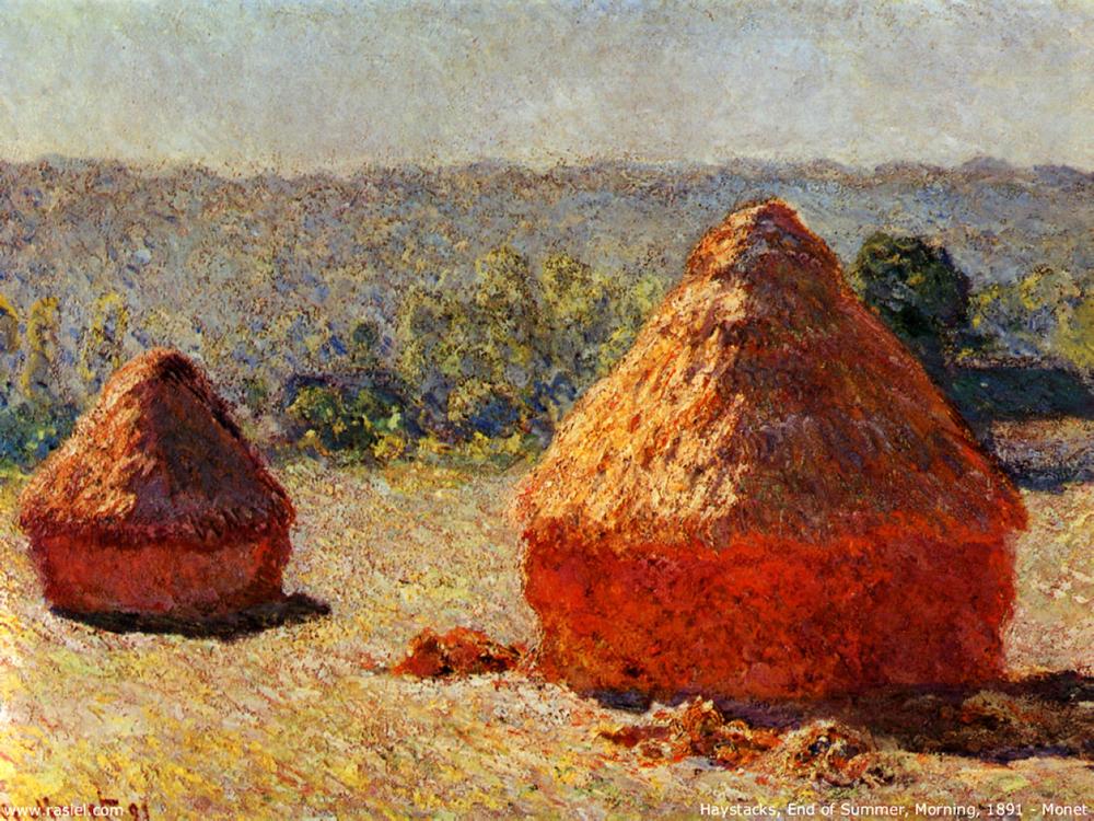 Original Monet's painting  Haystacks: End of Summer 1891