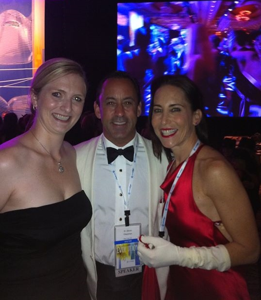 Rachel with Dr. Steven and Debra Glassman at the Invisalign Summit