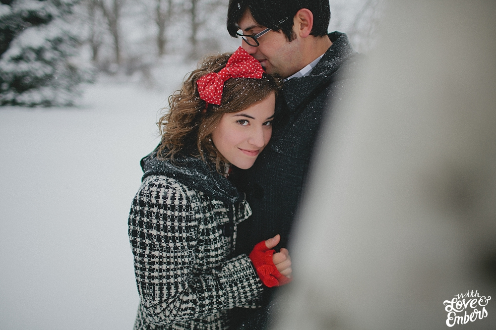 Birdhouse Wedding Films Northern Pennsylvania Snowy Engagement Session