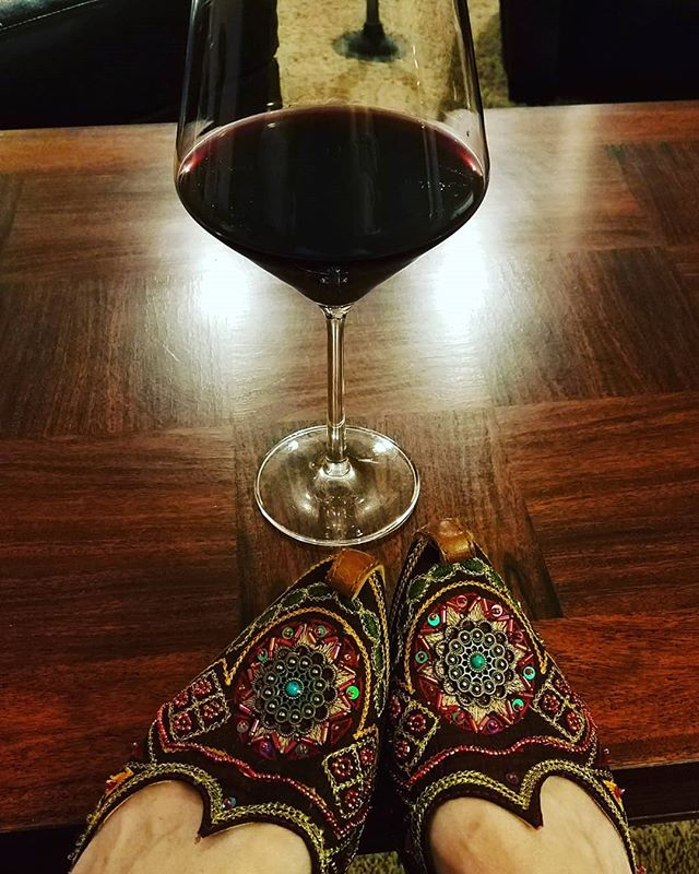 When #winepairing means #awesomeshoes...#wine #vinis #beaded #morroco #cinderellaaintgotnothinonme
