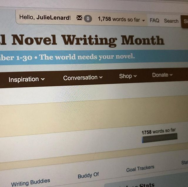 You guys! I did it! 3 years of not even trying to do #nanowrimo, and on my 4th year, I finally sat down and decided that whatever I'm writing doesn't have to be anything right now. If it turns out to be a short story, that's cool. An article, that's cool too. A novel, that would be awesome. But even if it's only the very definition of a shitty first draft, thanks to Anne Lamott, I will be proud anyways. Who else is doing this?