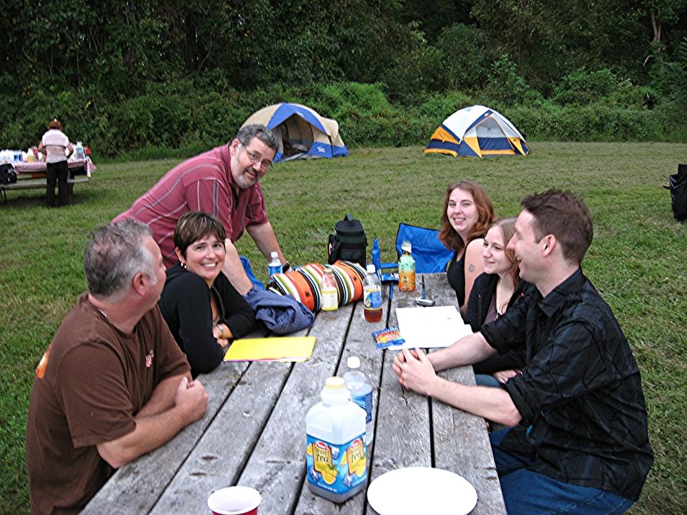 Bonfire: Anna Evans, Don Hucks, Dan Maguire, Rachel Bunting, and friends!