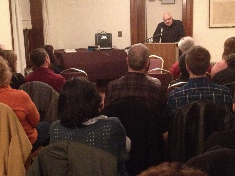Grant Clauser reading at Media Borough Hall 2013