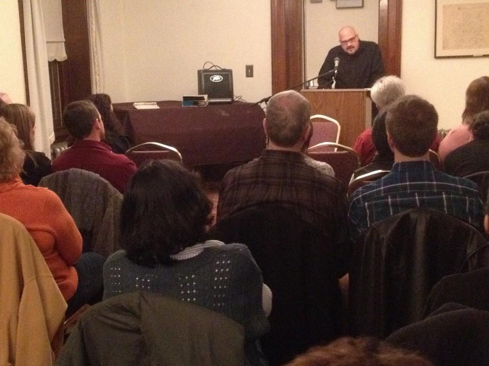 Grant Clauser reading at Media Borough Hall 2013